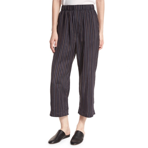 Vince Pants - Vince Striped Slouchy Crop Pant Small